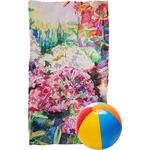 Watercolor Floral Beach Towel