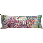 Watercolor Floral Body Pillow Case