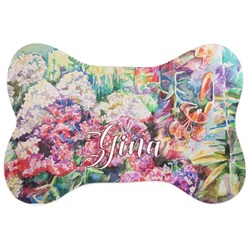 Watercolor Floral Bone Shaped Dog Food Mat