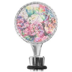 Watercolor Floral Wine Bottle Stopper