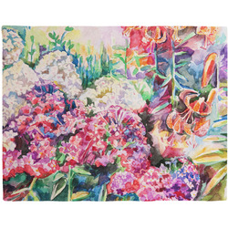 Watercolor Floral Woven Fabric Placemat - Twill