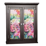 Watercolor Floral Cabinet Decal - Custom Size