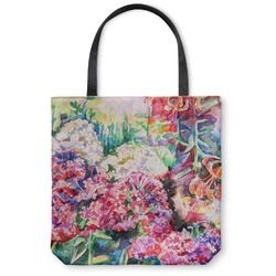 Watercolor Floral Canvas Tote Bag