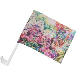 Watercolor Floral Car Flag