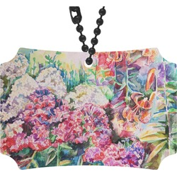 Watercolor Floral Rear View Mirror Ornament