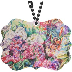 Watercolor Floral Rear View Mirror Decor