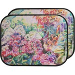 Watercolor Floral Car Floor Mats (Back Seat)