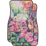 Watercolor Floral Car Floor Mats (Front Seat)