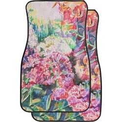 Watercolor Floral Car Floor Mats (Front Seat)
