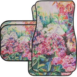 Watercolor Floral Car Floor Mats Set - 2 Front & 2 Back