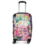 Watercolor Floral Suitcase