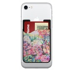 Watercolor Floral 2-in-1 Cell Phone Credit Card Holder & Screen Cleaner