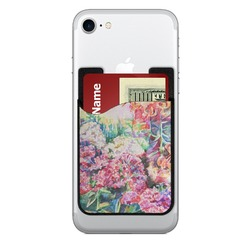 Watercolor Floral Cell Phone Credit Card Holder