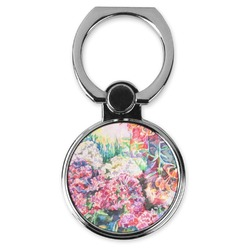 Watercolor Floral Cell Phone Ring Stand & Holder