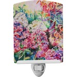 Watercolor Floral Ceramic Night Light
