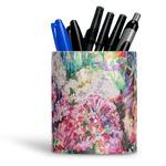 Watercolor Floral Ceramic Pen Holder