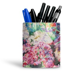 Watercolor Floral Ceramic Pen Holder