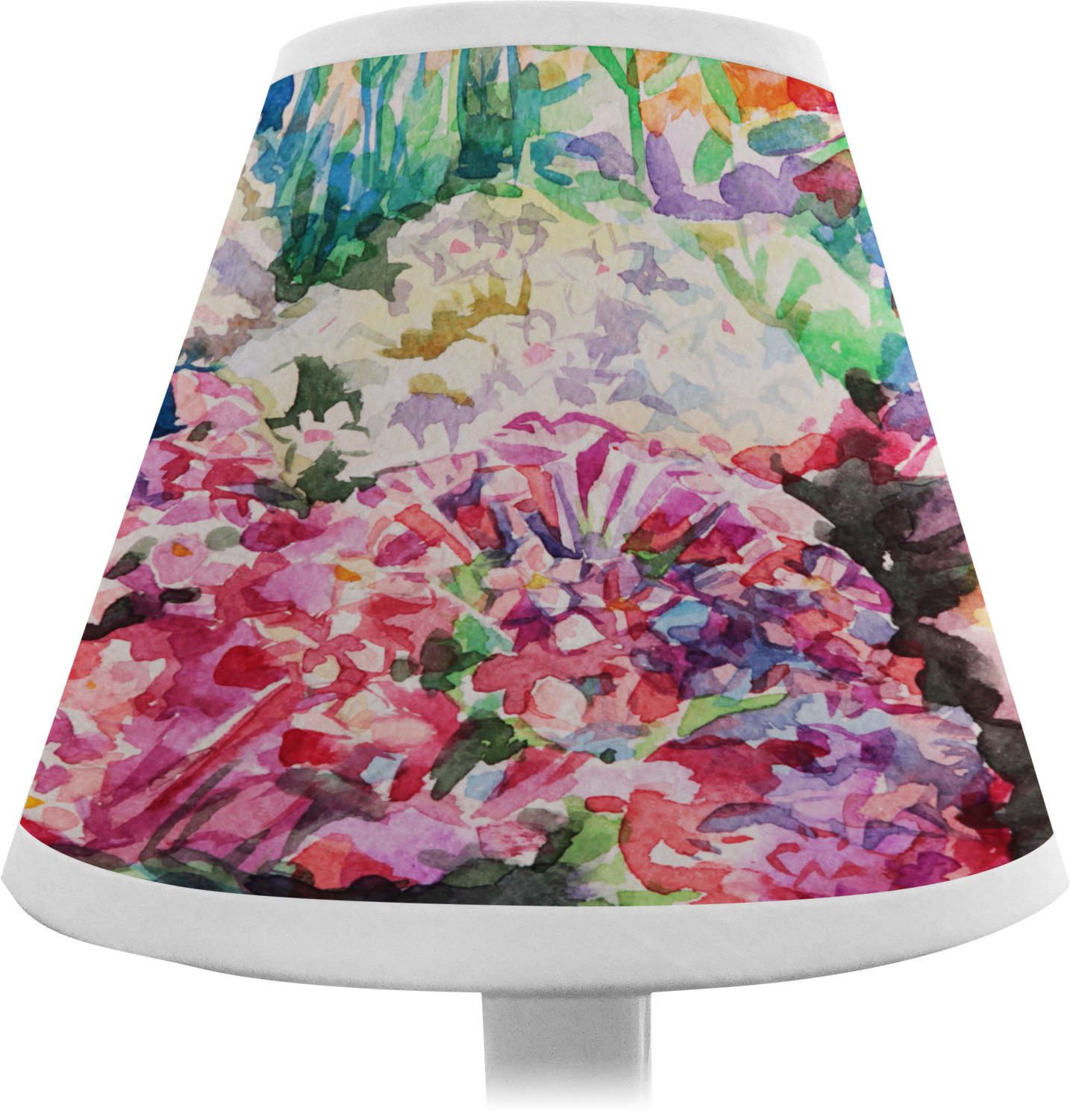 Flower Lamp Shade : Watercolor floral chandelier lamp shade youcustomizeit