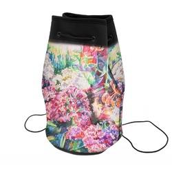Watercolor Floral Neoprene Drawstring Backpack