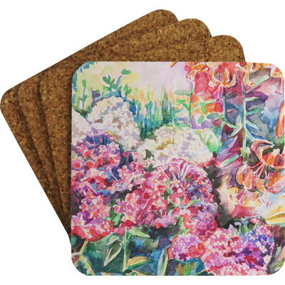 Watercolor Floral Coaster Set w/ Stand