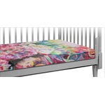Watercolor Floral Crib Fitted Sheet