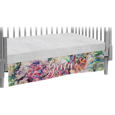 Watercolor Floral Crib Skirt