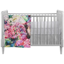 Watercolor Floral Crib Comforter / Quilt