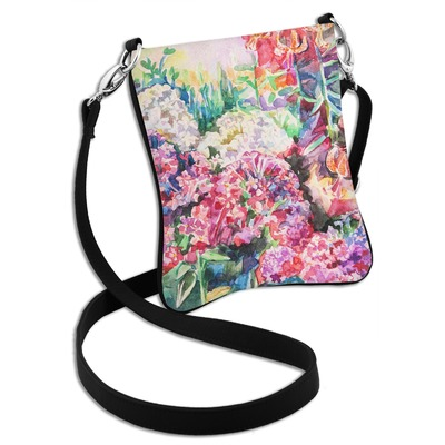 Watercolor Floral Cross Body Bag - 2 Sizes