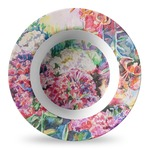 Watercolor Floral Plastic Bowl - Microwave Safe - Composite Polymer