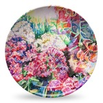 Watercolor Floral Microwave Safe Plastic Plate - Composite Polymer