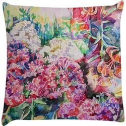 Watercolor Floral Decorative Pillow Case
