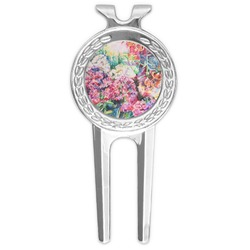 Watercolor Floral Golf Divot Tool & Ball Marker