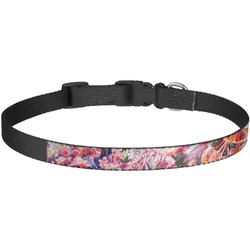 Watercolor Floral Dog Collar - Large