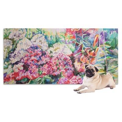 Watercolor Floral Dog Towel