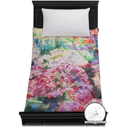 Watercolor Floral Duvet Cover - Twin