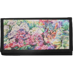 Watercolor Floral Canvas Checkbook Cover
