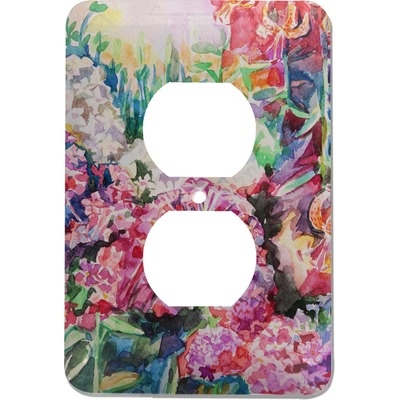 Watercolor Floral Electric Outlet Plate