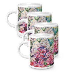 Watercolor Floral Espresso Mugs - Set of 4