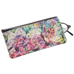 Watercolor Floral Genuine Leather Eyeglass Case
