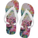 Watercolor Floral Flip Flops