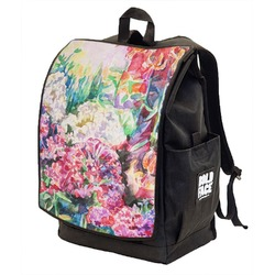 Watercolor Floral Backpack w/ Front Flap