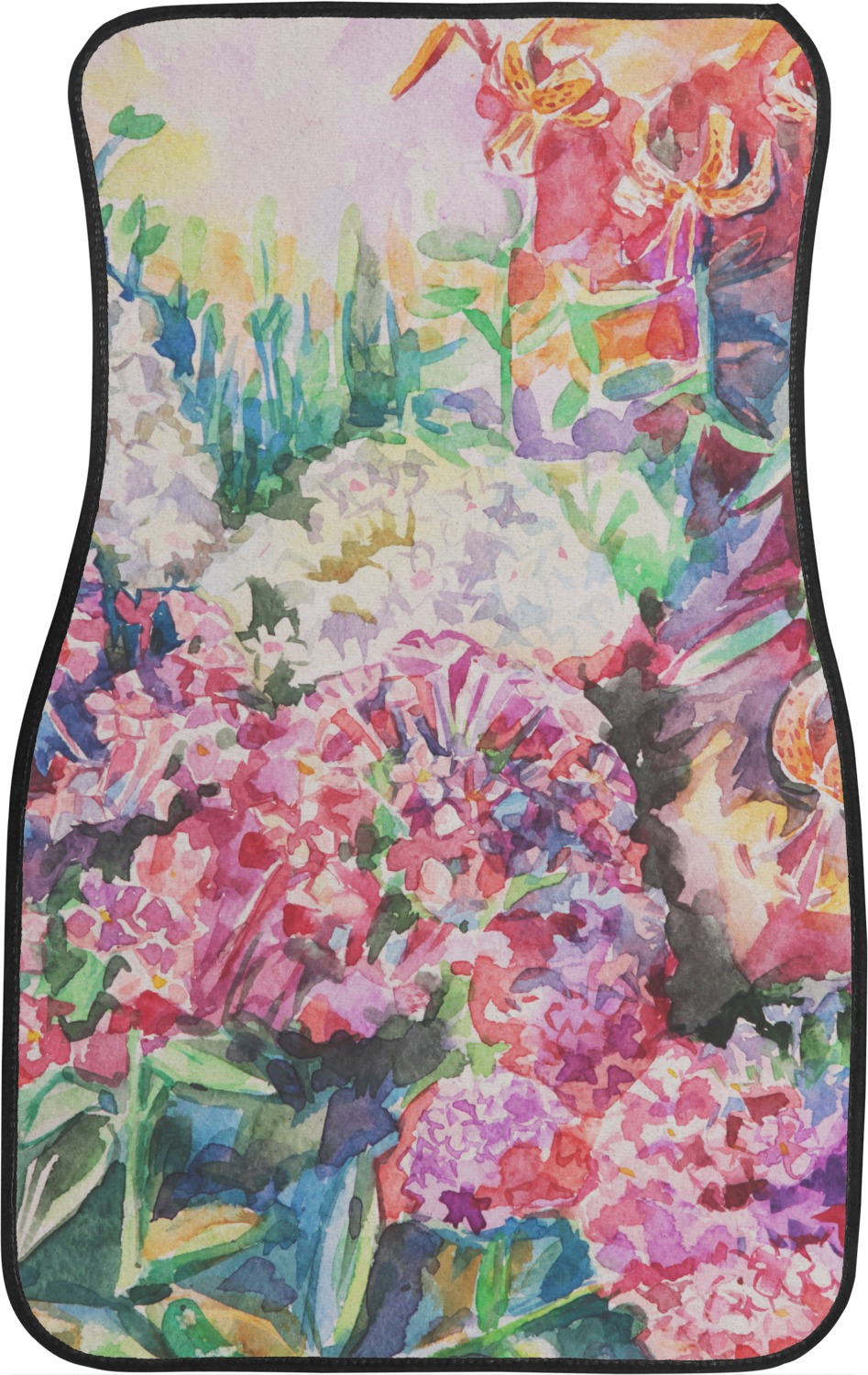 Watercolor Floral Car Floor Mats Front Seat Youcustomizeit