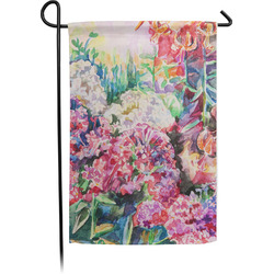 Watercolor Floral Garden Flag - Single or Double Sided