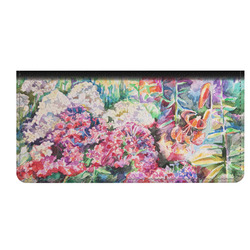 Watercolor Floral Genuine Leather Checkbook Cover
