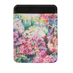 Watercolor Floral Genuine Leather Money Clip