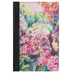 Watercolor Floral Genuine Leather Passport Cover