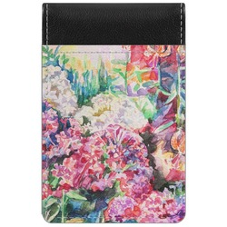 Watercolor Floral Genuine Leather Small Memo Pad