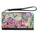 Watercolor Floral Genuine Leather Smartphone Wrist Wallet