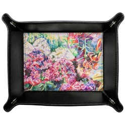 Watercolor Floral Genuine Leather Valet Tray