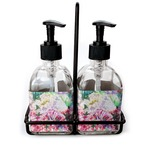 Watercolor Floral Soap & Lotion Dispenser Set (Glass)
